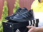 Мужские кроссовки Adidas (черные) 9409, фото 3