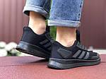 Мужские кроссовки Adidas (черные) 9409, фото 4