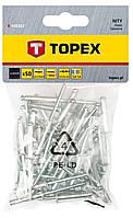 Заклепки алюмiнiєвi Topex 43E302 3.2 мм x 10 мм, 50 шт.*1 уп.