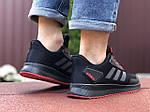 Мужские кроссовки Adidas (черно-красные) 9412, фото 2