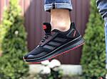 Мужские кроссовки Adidas (черно-красные) 9412, фото 3