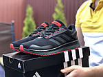 Мужские кроссовки Adidas (черно-красные) 9412, фото 4