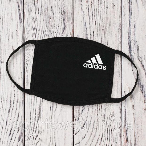 Многоразовая маска с принтом Adidas  женская,мужская
