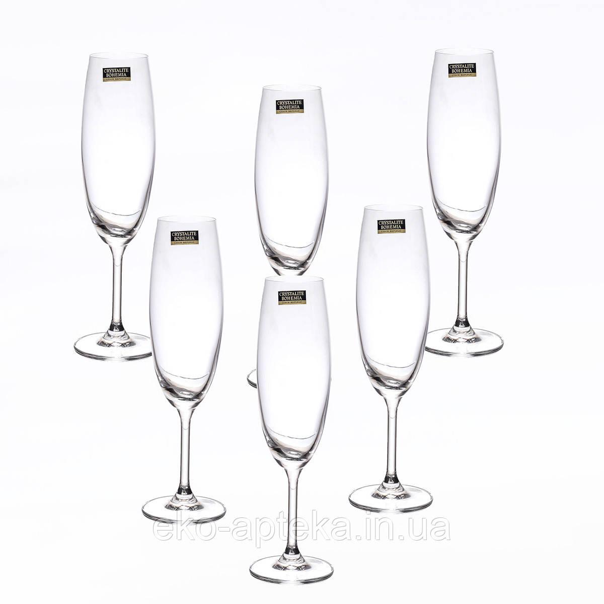 Набор бокалов для шампанского 6ШТ 250МЛ BOHEMIA BARBARA