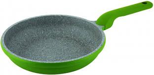 Сковорода Con Brio CB-2426 зелена, 24см, ІНДУКЦІЯ, Eco Granite PREMIUM