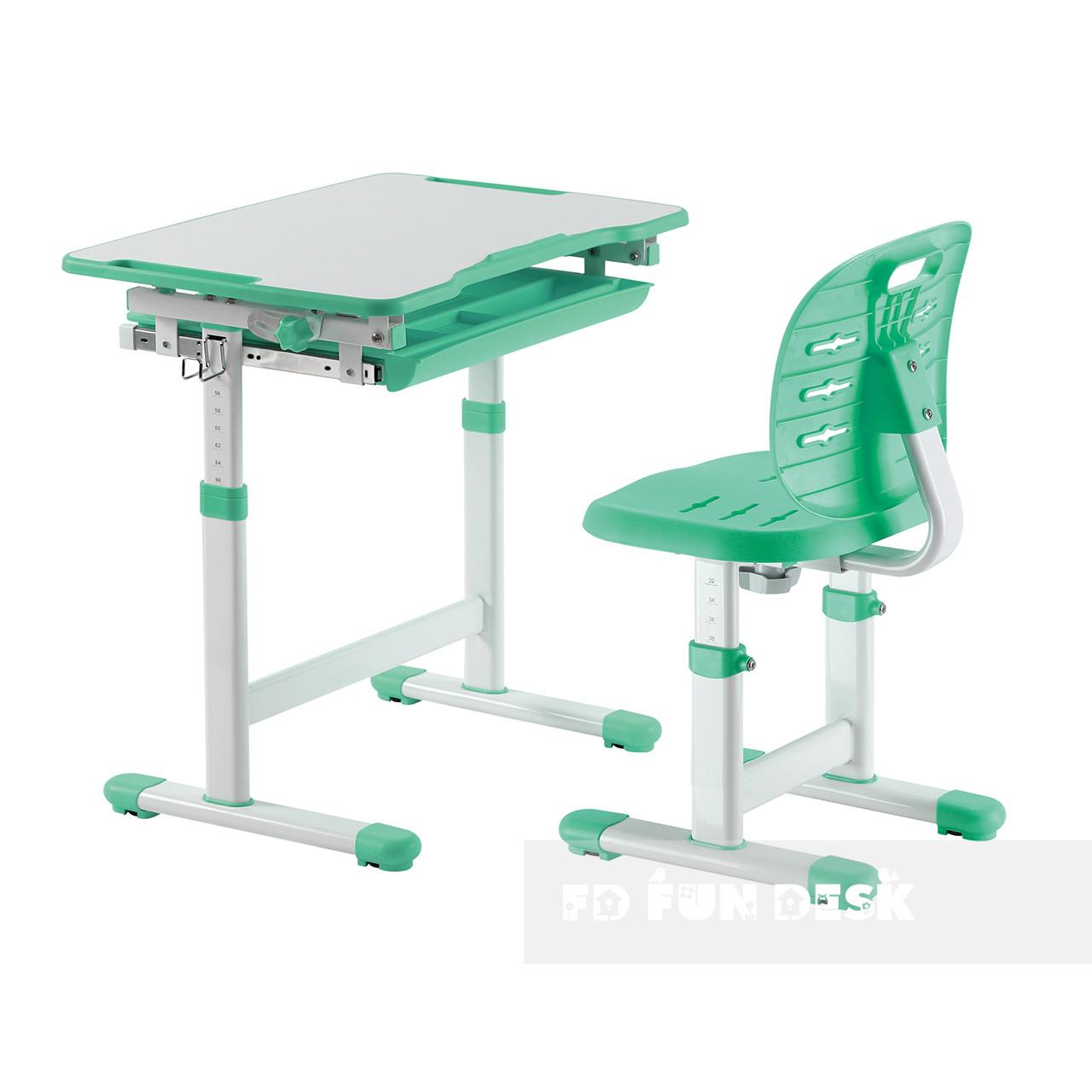 Комплект парта + стул трансформеры Piccolino III Green FunDesk - ОПТОМ ДЛЯ ШКОЛ