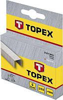 Скобы Topex 41E308 8 мм, 1000 шт.*1 уп; тип J