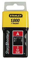 Скобы Stanley 1-TRA204T 6мм (1000шт.) (блистер)