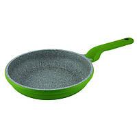 Сковорода Con Brio CB-2626 зелена, 26см, ІНДУКЦІЯ, Eco Granite PREMIUM