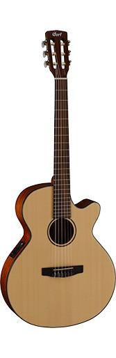 Классическая гитара со встроенным керамическим пьезозвукоснимателем CORT CEC3 (NS)