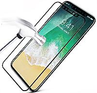 Apple iPhone X Защитное Стекло 6D для дисплея, экрана, матрицы телефона,  черный цвет