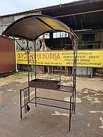 Кованый мангал с крышей КМ АРТ № 18, фото 1