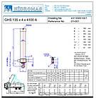 Гидроцилиндр GHS 135-4-4100-L150 A (фронтальный с ухом снизу) HIDROMAS, фото 3
