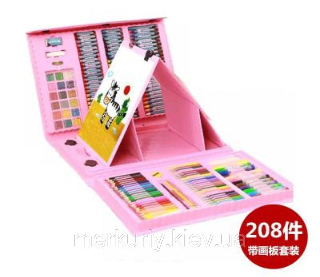208 Набір для малювання у валізці з мольбертом предметів творчість фарби