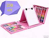 208 Набір для малювання у валізці з мольбертом предметів творчість фарби, фото 2