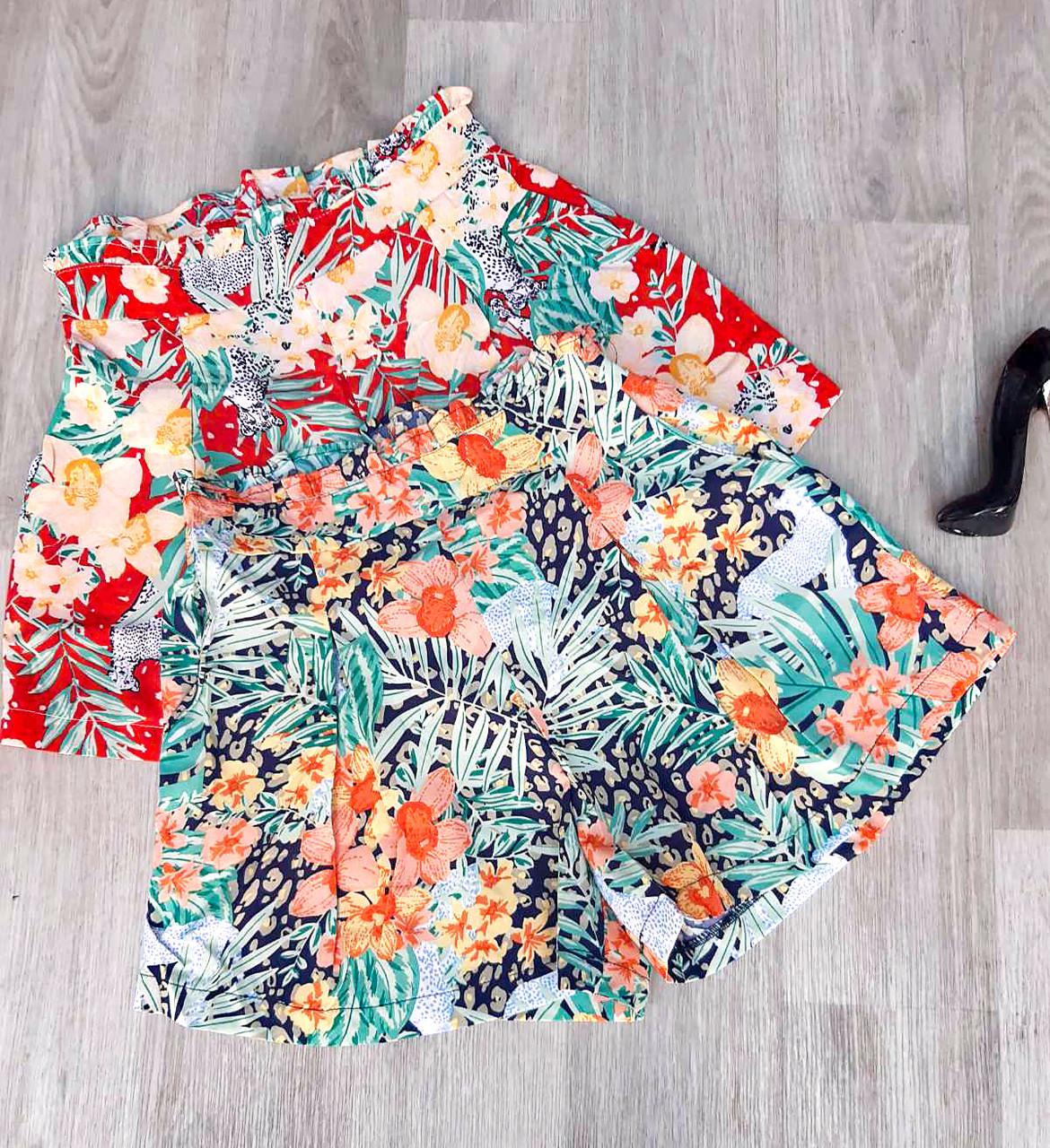 Яркие коттоновые шорты с принтом 42-44 (в расцветках)