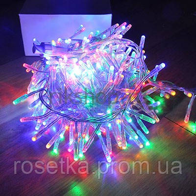 Светодиодная LED гирлянда 100 ламп 6,5 метров