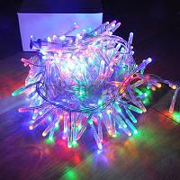 Светодиодная LED гирлянда 100 ламп 6,5 метров, фото 1