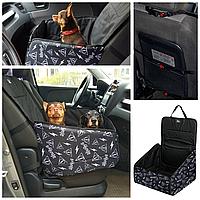 Автогамак для собак на переднее и заднее сиденье авто. автокресло для перевозки собак в авто. Persid Status.