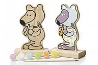 """Увлекательная детская игра-раскраска Игра-раскраска Cubika """"Мишка"""" (с красками)"""