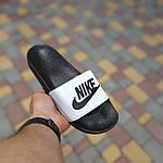 Чоловічі літні шльопанці Nike (чорно-білі) 40009, фото 2