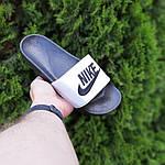 Чоловічі літні шльопанці Nike (чорно-білі) 40009, фото 3