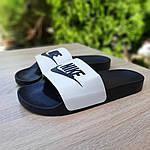 Чоловічі літні шльопанці Nike (чорно-білі) 40009, фото 4