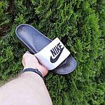 Чоловічі літні шльопанці Nike (чорно-білі) 40009, фото 6