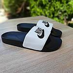Чоловічі літні шльопанці Nike (чорно-білі) 40009, фото 8