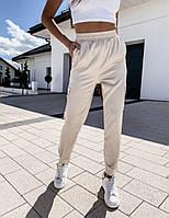 Женские модные однотонные спортивные штаны с карманами по бокам , молодёжные практичные летние беж,бе,чёрный
