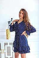Легкое летнее платье в горошек Норма РФЕ 1123, фото 1