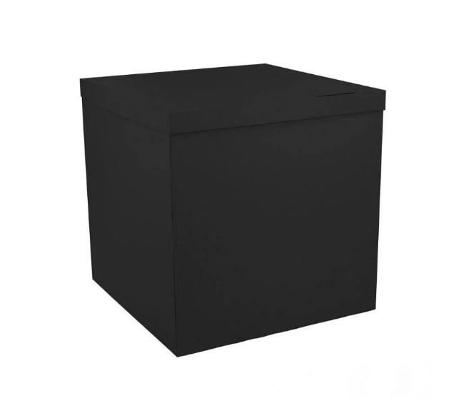 Коробка сюрприз для воздушных шаров чёрная 700х700х700 мм