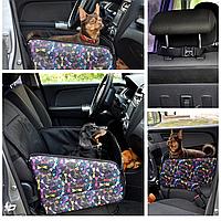 Автогамак на переднее и заднее сиденье авто, для перевозки собак в автомобиле. Persid sky