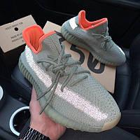 Адидас Изи Буст 350 Мужские кроссовки серые для бега из текстиля Adidas Yeezy Boost 350 V2 Desert Sage