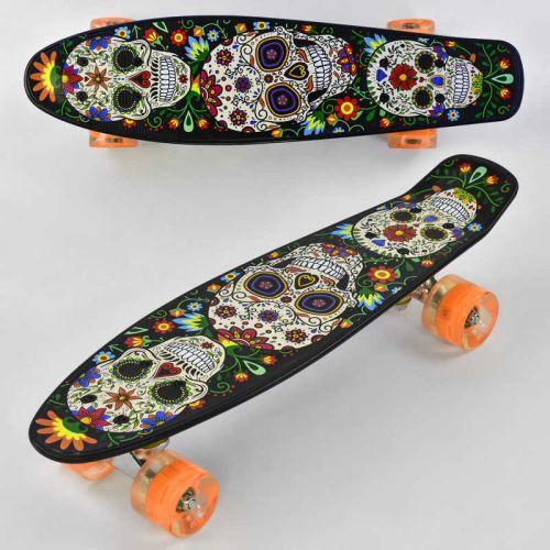 Скейтборд Penny Best Board, колеса СВІТЛО, дошка=55см. Скейт пенні