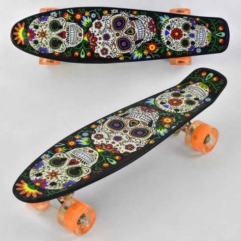 Скейтборд Penny Best Board, колеса СВІТЛО, дошка=55см. Скейт пенні, фото 2