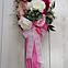 Цветочная композиция Волинські візерунки в розовом зонте, фото 2