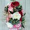 Цветочная композиция Волинські візерунки в розовом зонте, фото 3