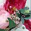 Цветочная композиция Волинські візерунки в розовом зонте, фото 4