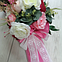 Цветочная композиция Волинські візерунки в розовом зонте, фото 5