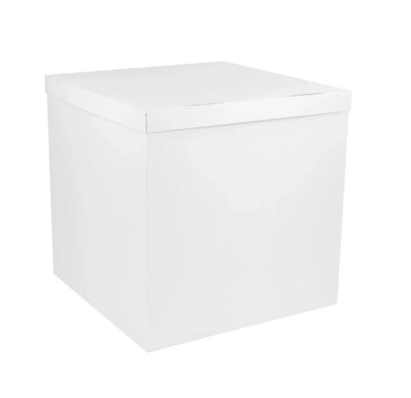 Коробка сюрприз для воздушных шаров белая 700х700х700 мм