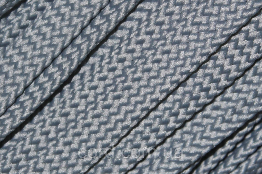 Шнур плоский чехол 15мм (100м) светло серый