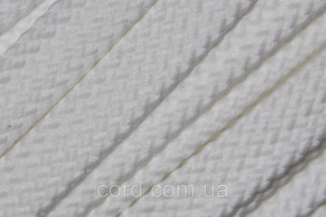 Шнур плоский чехол 15мм (100м) белый