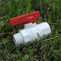 Краны шаровые пластиковые