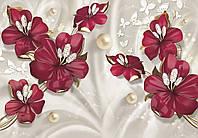 Фотообои Рубиновые цветы № 1- 278*196 см