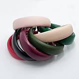 Ободок модный широкий эко-кожа обруч объемный высокий разные цвета трендовый ободочек модный, фото 2