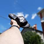 Жіночі літні шльопанці Nike (чорно-білі) 50001, фото 2