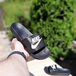 Жіночі літні шльопанці Nike (чорно-білі) 50001, фото 3