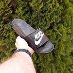 Жіночі літні шльопанці Nike (чорно-білі) 50001, фото 4