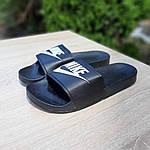 Жіночі літні шльопанці Nike (чорно-білі) 50001, фото 5